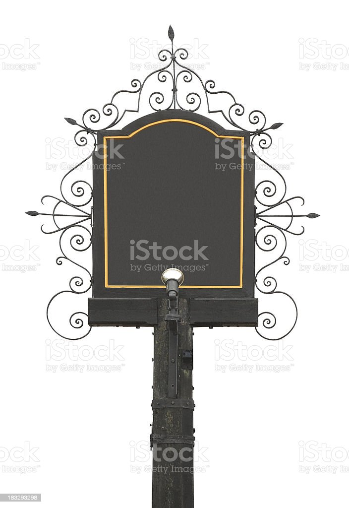 traditional English Pub Sign stock photo