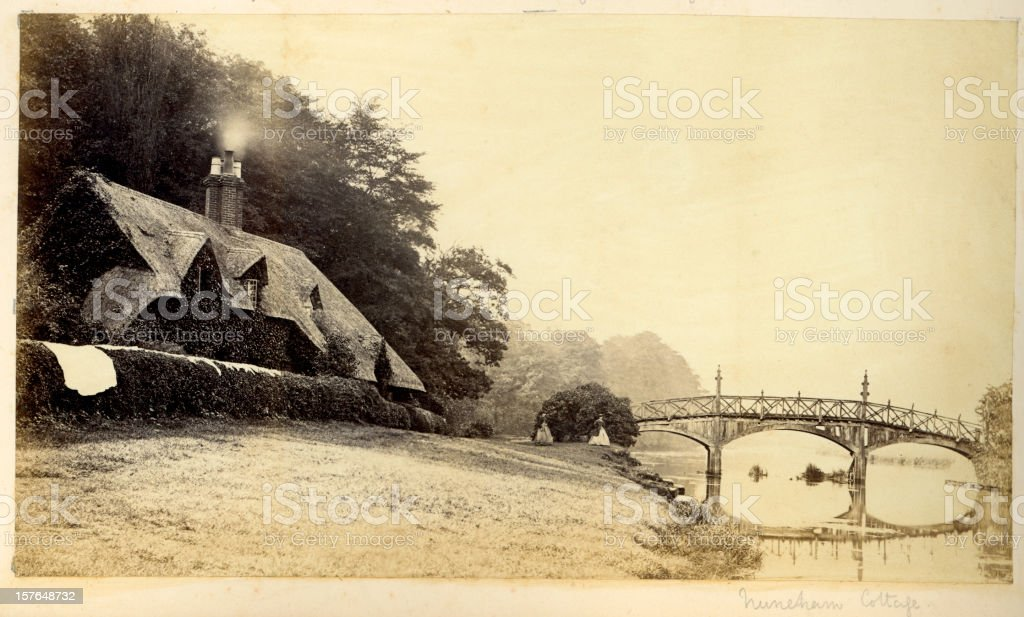 Traditional English Thatched Cottage royalty-free stock photo