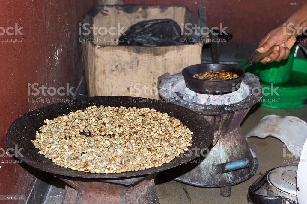 Traditional ethiopian coffee ceremony stock photo
