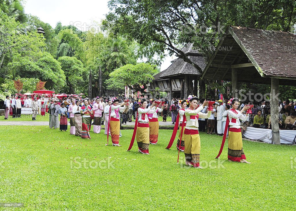 Traditional event of Thai native Lanna royalty-free stock photo