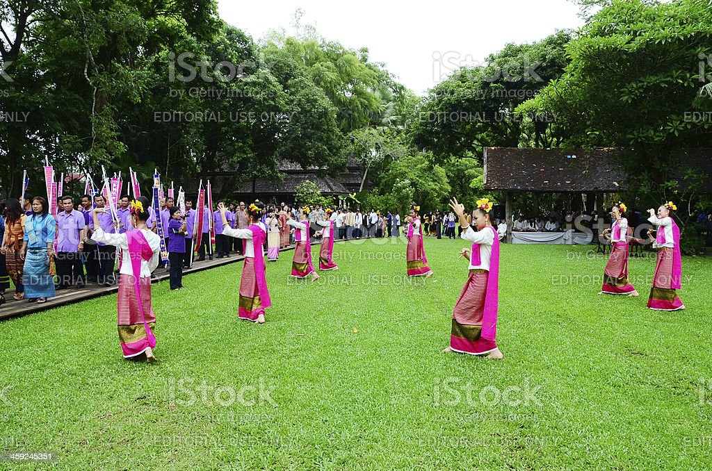 Traditional event Thai Yai royalty-free stock photo