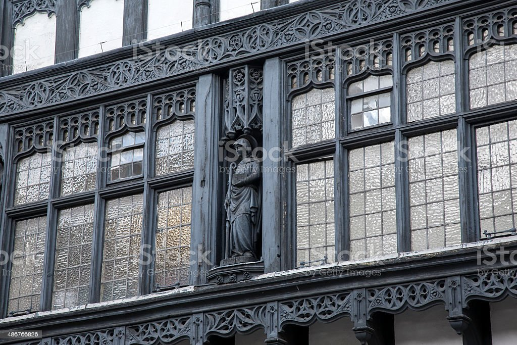 Traditional Facade in Chester stock photo