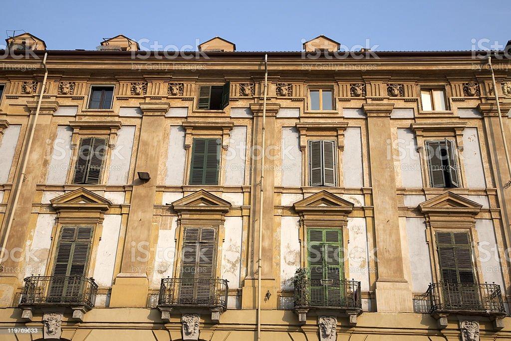 Traditional Facade, Turin stock photo