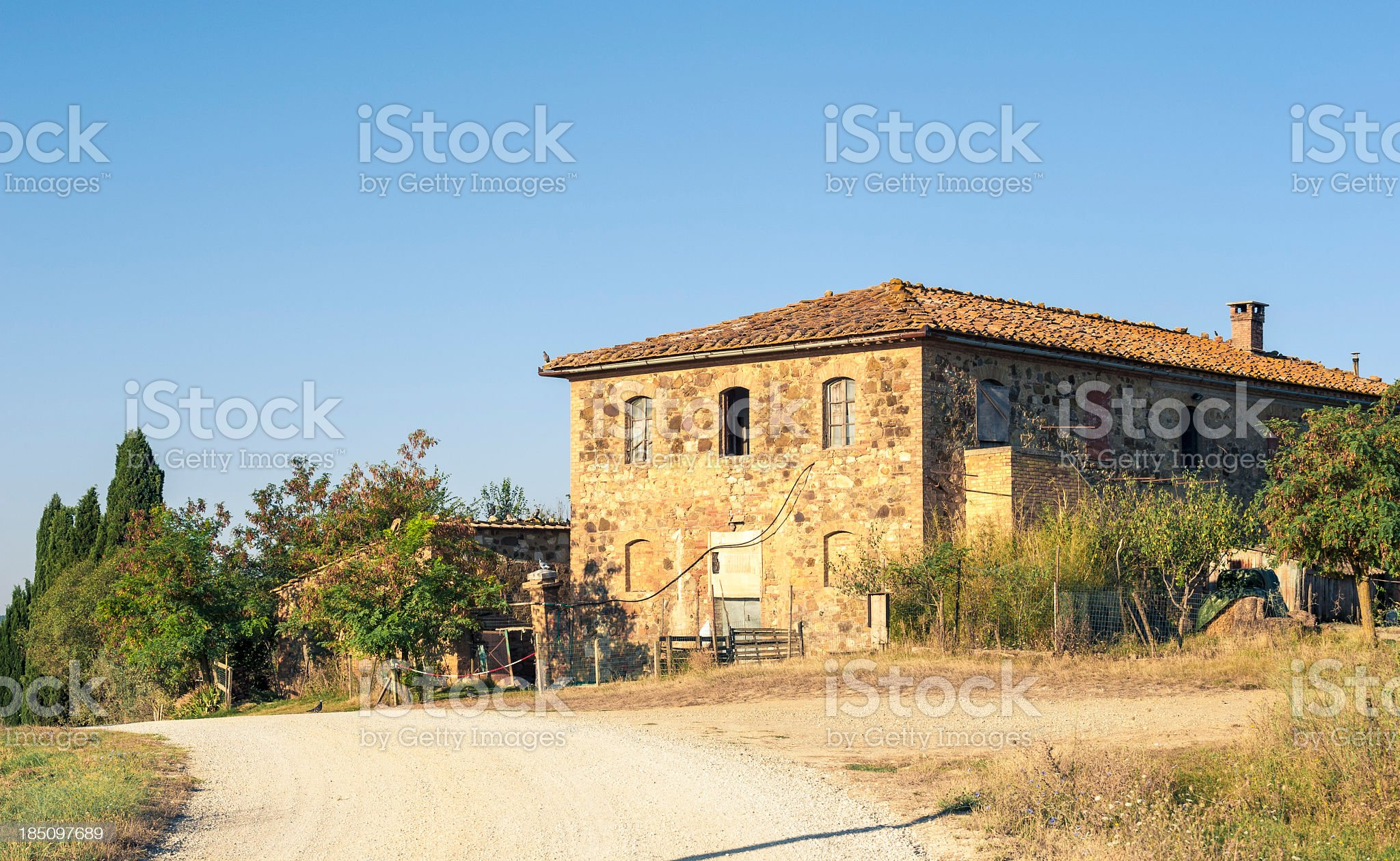 Traditional Farm In Val D'Orcia, Tuscany royalty-free stock photo
