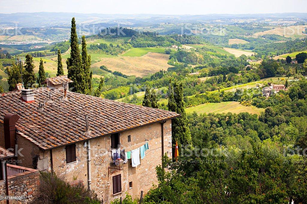 Traditional Farm On Tuscany royalty-free stock photo