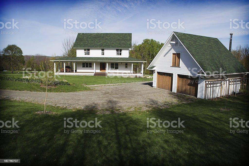 Traditional farmhouse stock photo