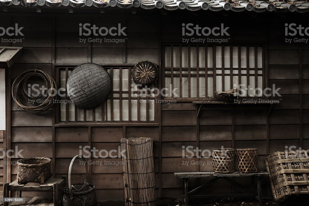 Traditional farming tools of Japan stock photo