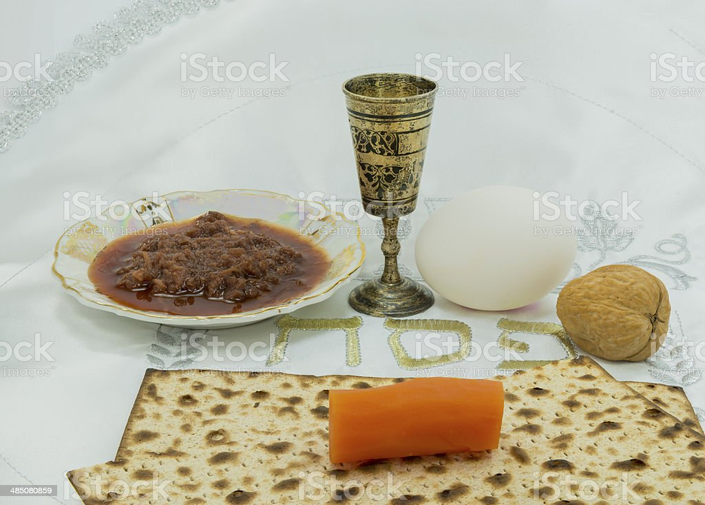 Traditional festive food for Passover royalty-free stock photo