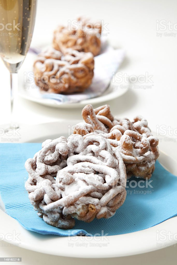 Traditional finnish May Day funnel cake stock photo