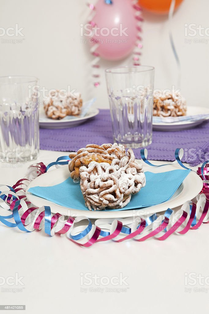 Traditional finnish May Day funnel cake royalty-free stock photo
