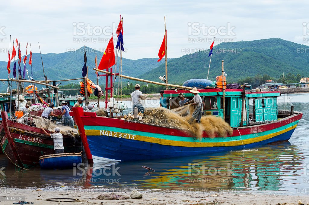 Traditional fish boat stock photo