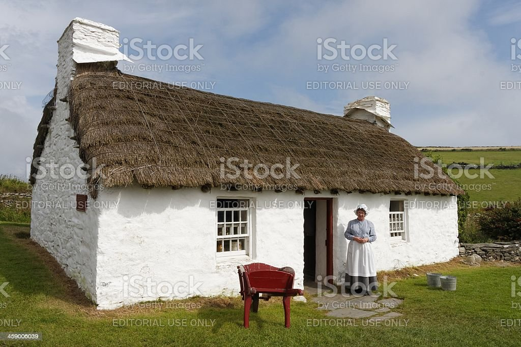 Traditional Fishermans Cottage stock photo