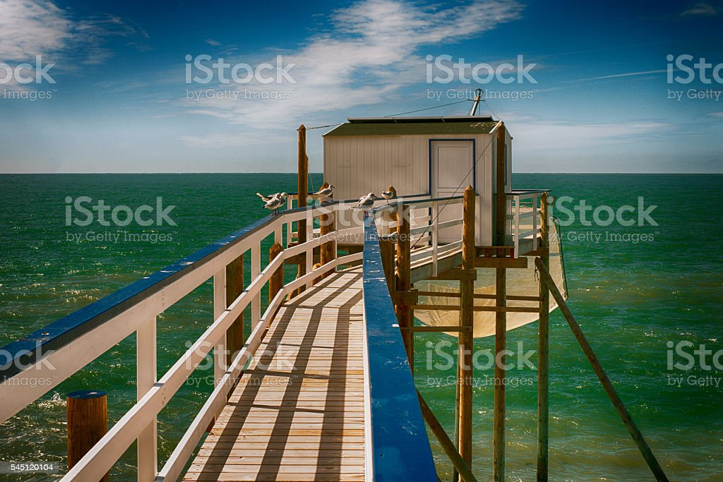 traditional fisherman's hut stock photo
