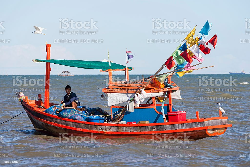 Traditional fishing boat. royalty-free stock photo