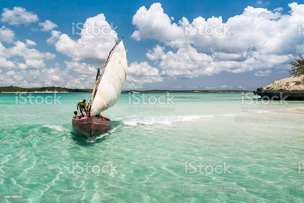 Traditional fishing boat stock photo