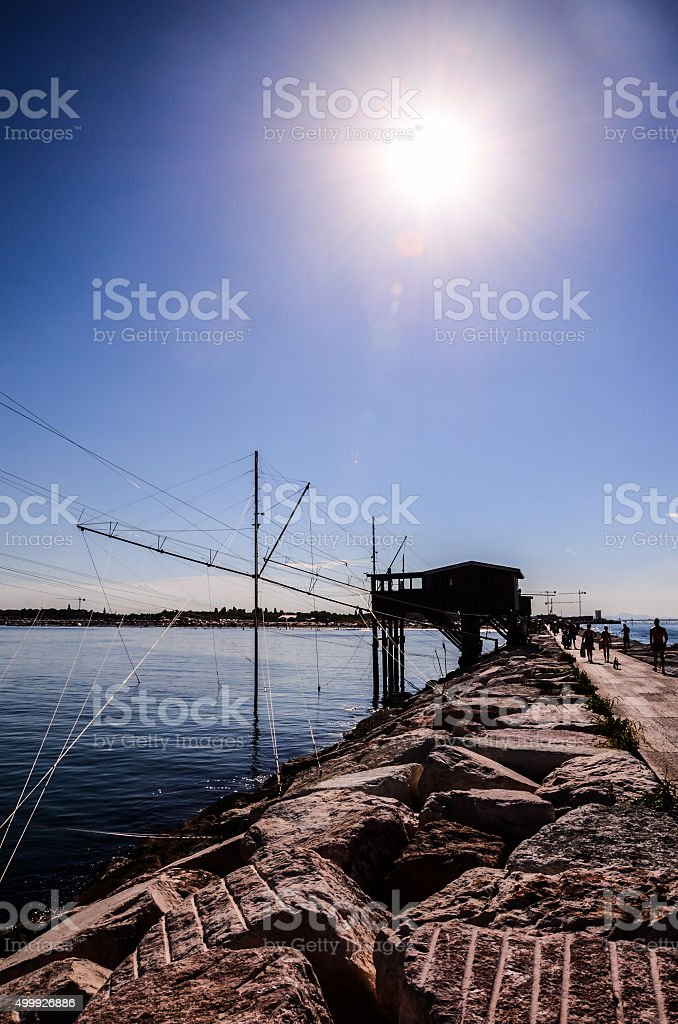 Traditional Fishing House stock photo