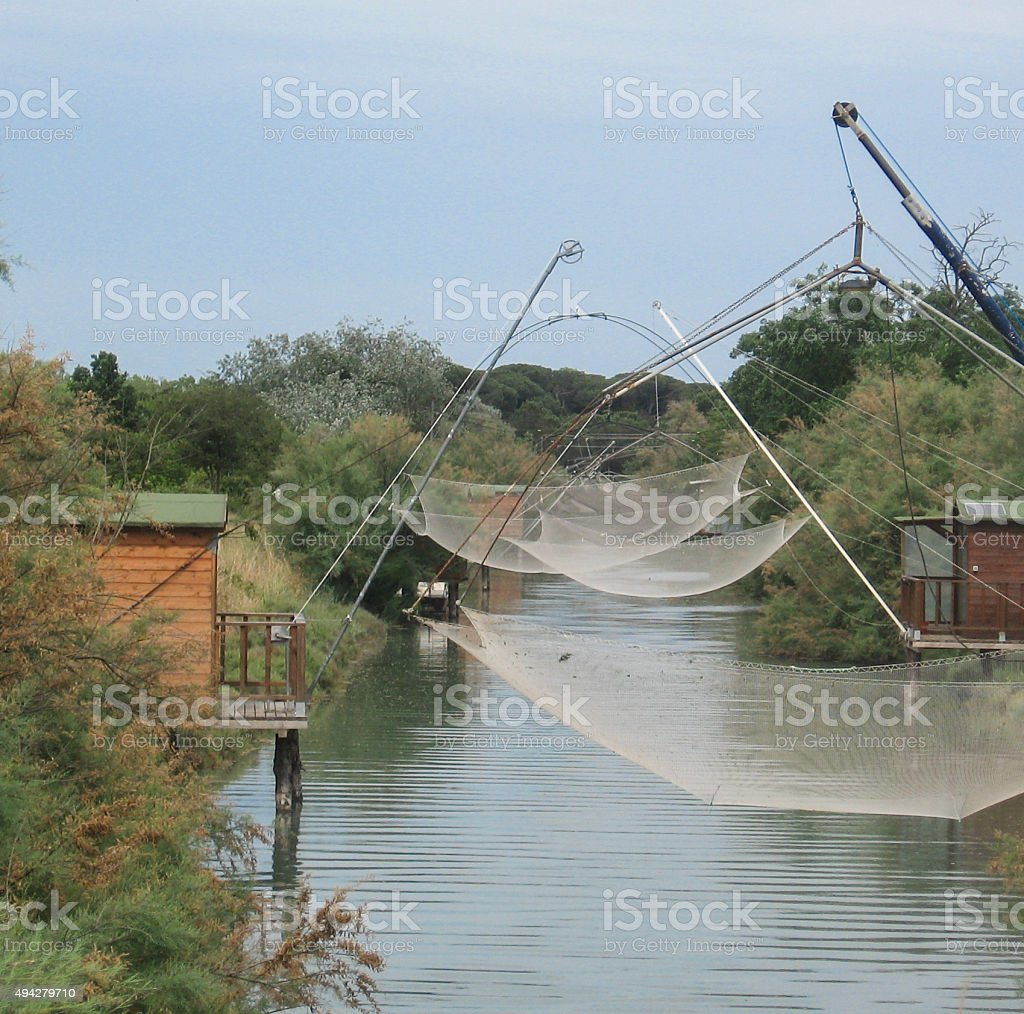 Traditional fishing nets royalty-free stock photo