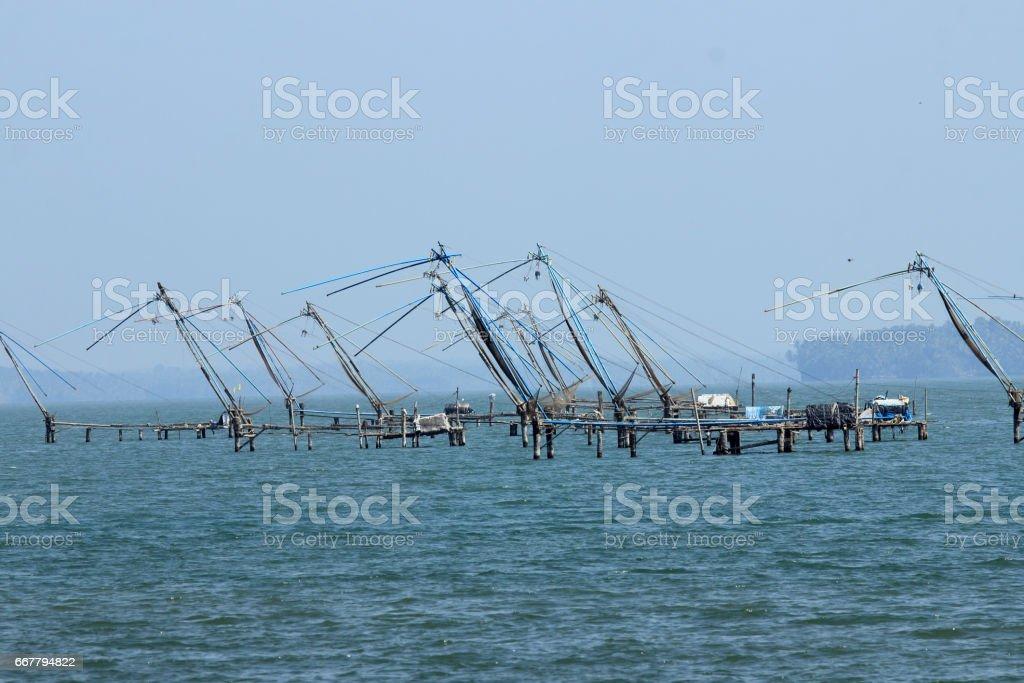 Traditional Fishing nets stock photo