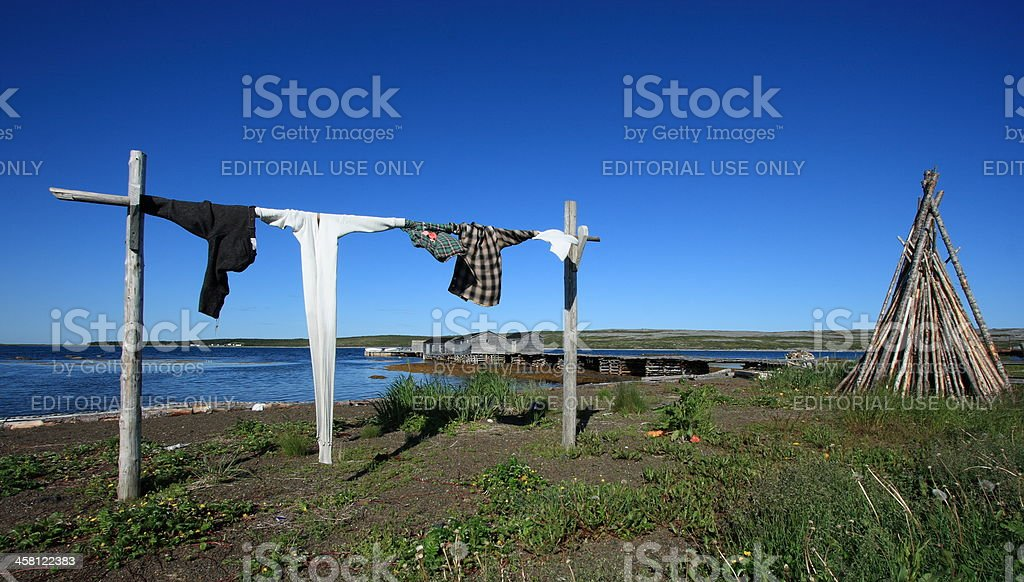 Traditional Fishing Village of Raleigh stock photo