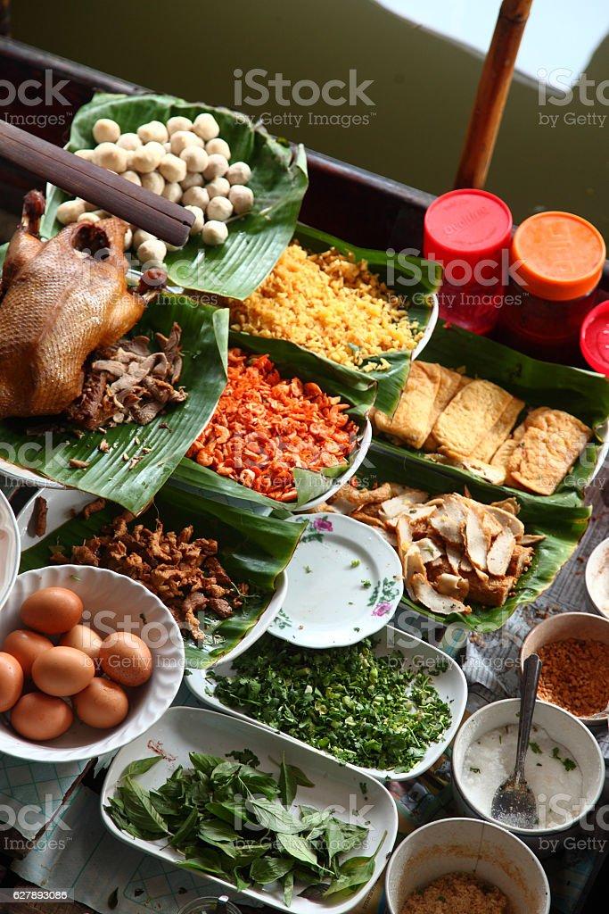 Traditional floating market stock photo