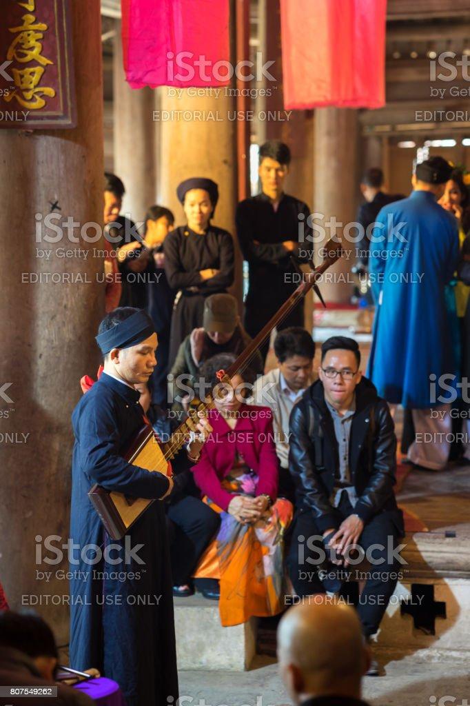 Traditional folk singers stock photo