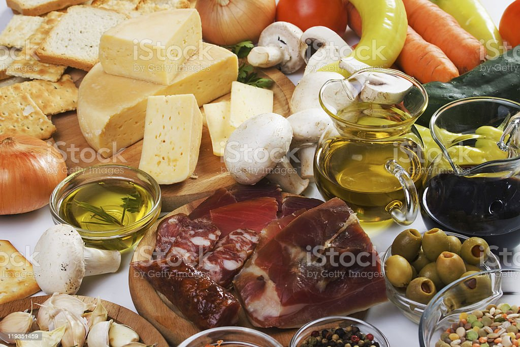 Traditional food ingredients royalty-free stock photo