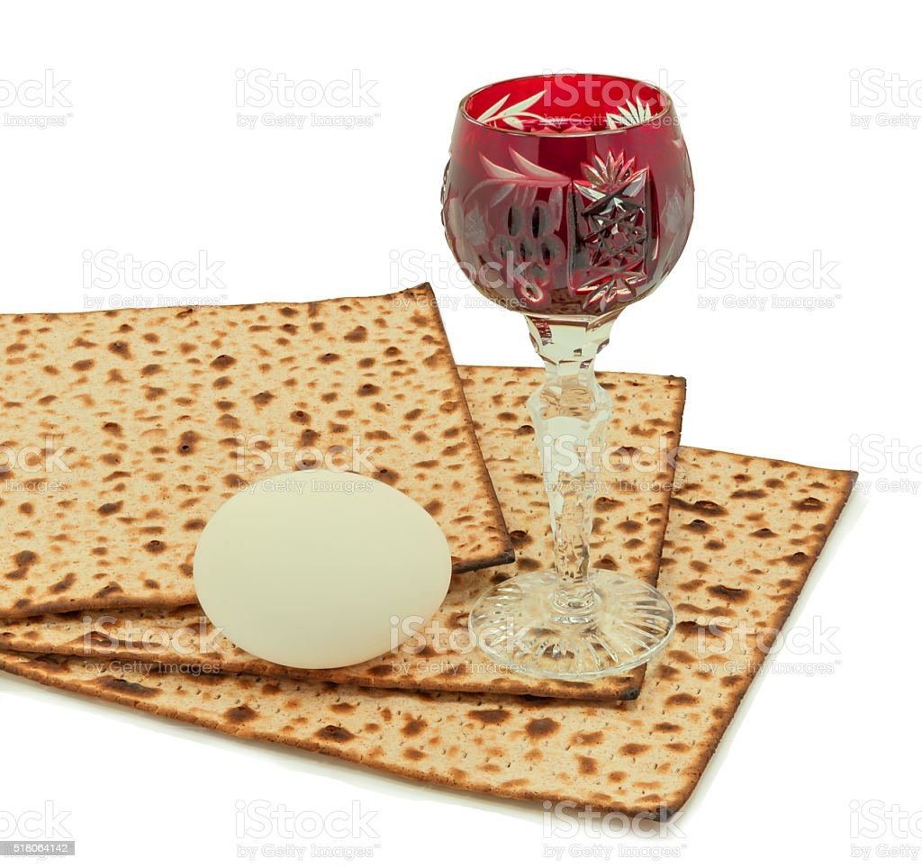 Traditional food of Jewish Passover holiday stock photo