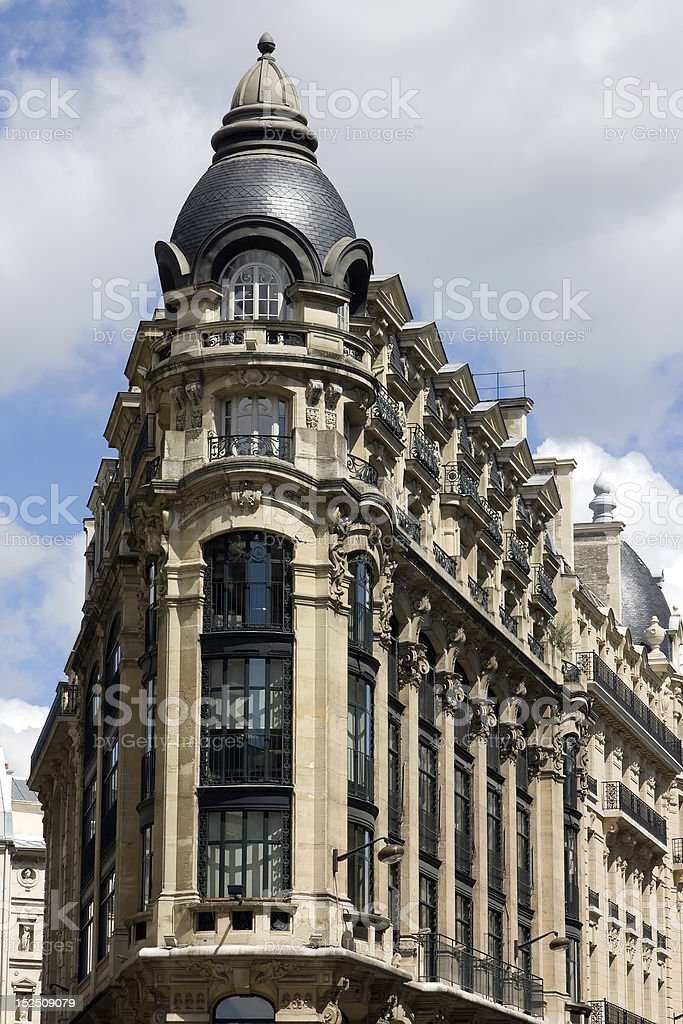 Traditional French Building royalty-free stock photo