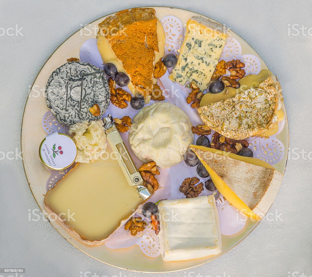 Traditional french cheese stock photo
