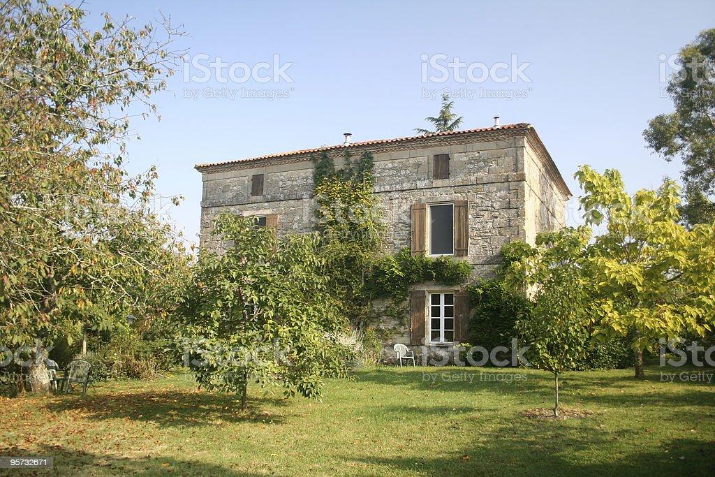 Traditional French farmhouse stock photo