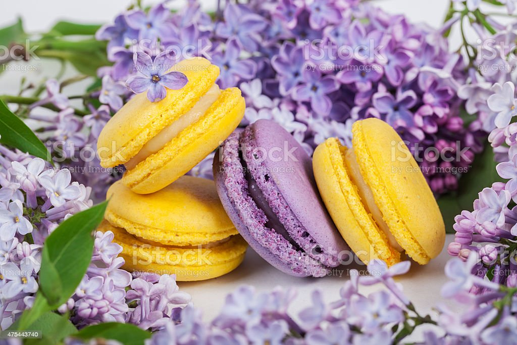 Traditional french macaroons stock photo