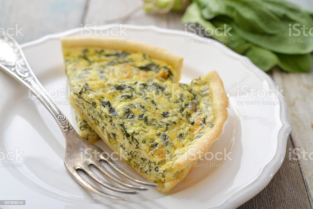 Traditional french quiche pie stock photo