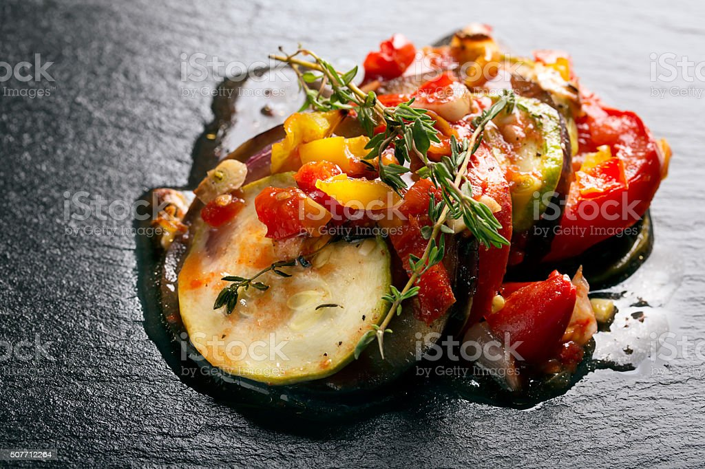 Traditional french ratatouille stock photo