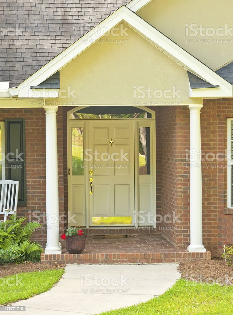 Traditional Front Doorway royalty-free stock photo