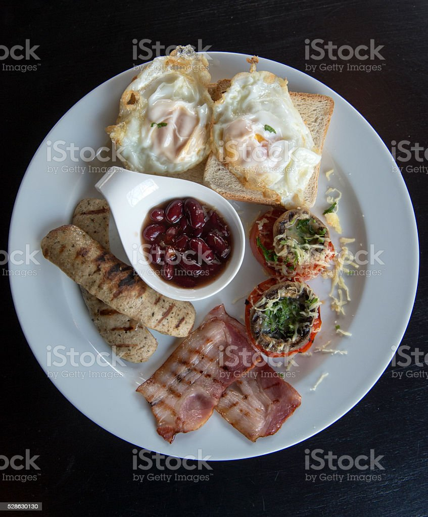 Traditional full English breakfast stock photo