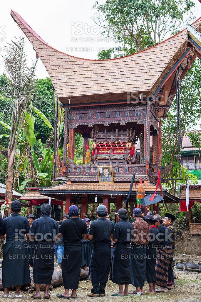 Traditional funeral in Tana Toraja stock photo