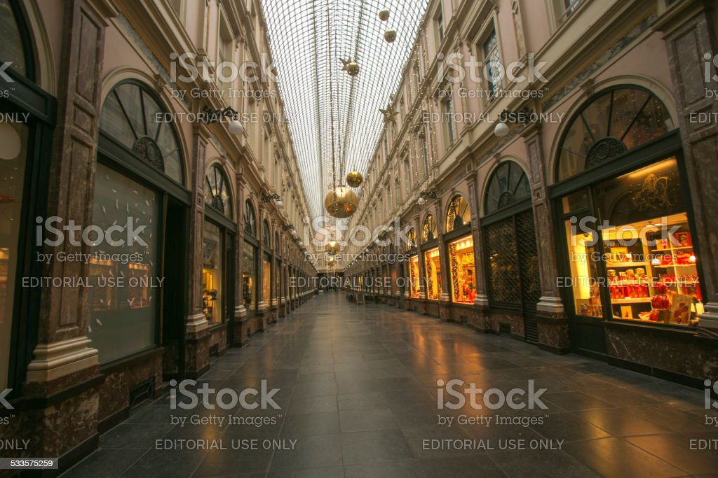 traditional galeries royales st hubert in brussel belgium stock photo