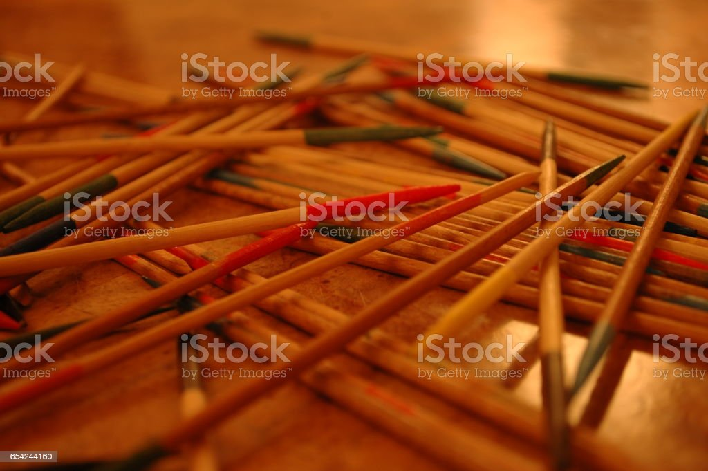 Traditional Game of Skill and Steady Hands stock photo