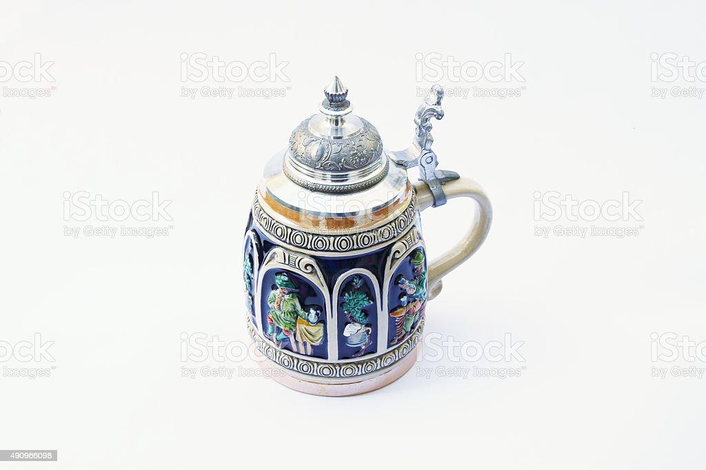 Traditional German beer mug. stock photo