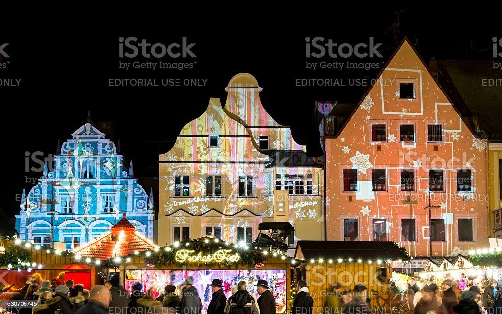 Traditional German Christmas Market stock photo