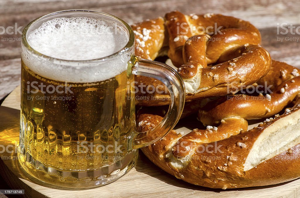 traditional German pretzels stock photo