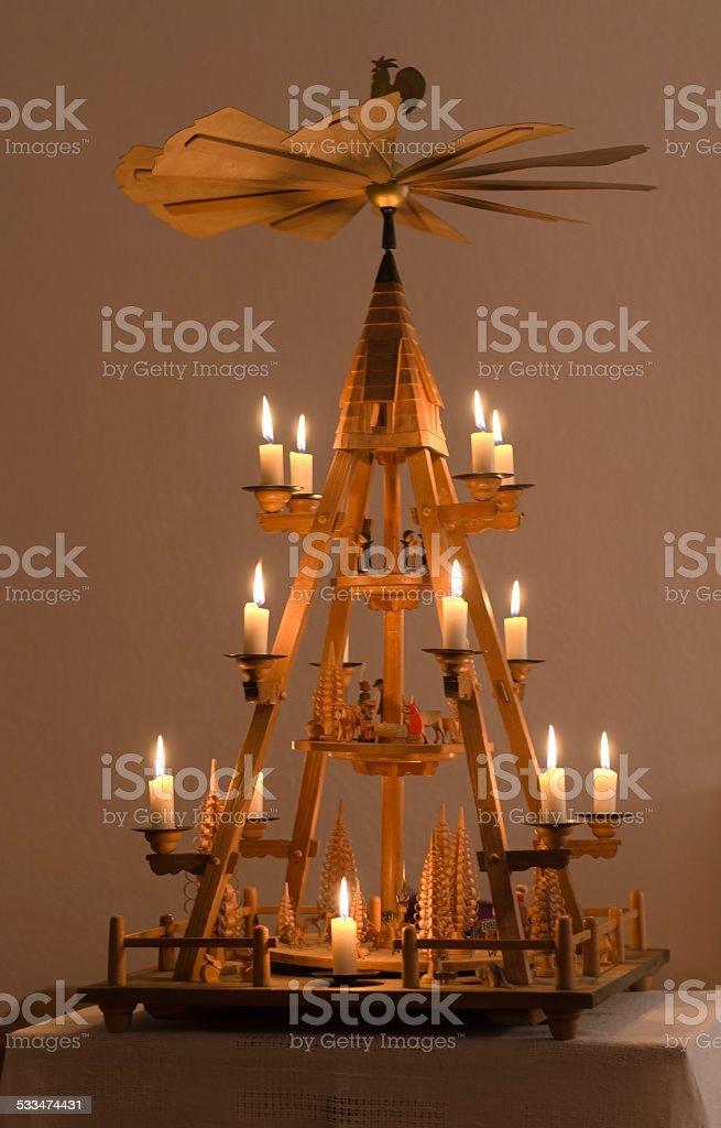 Traditional German Pyramid stock photo