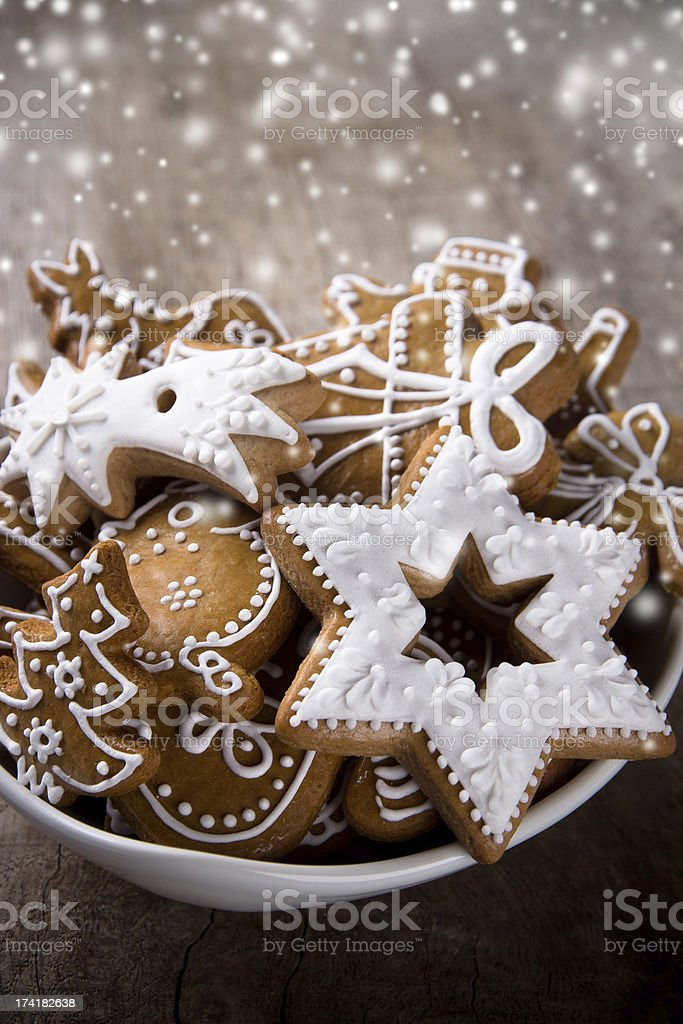 Traditional gingerbread cookies stock photo