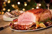 Traditional Glazed Holiday Ham Dinner