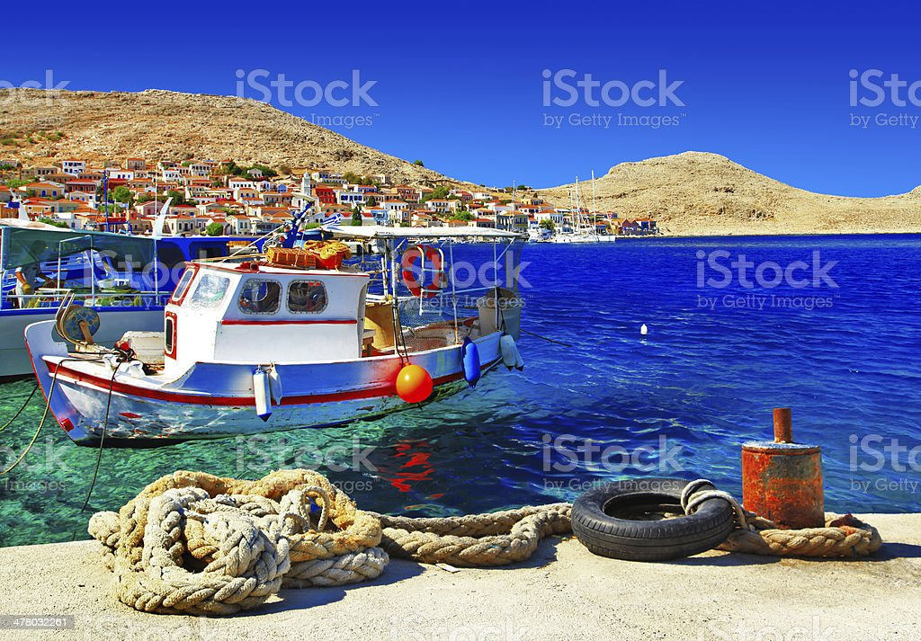 traditional Greece , Dodecanese islands stock photo