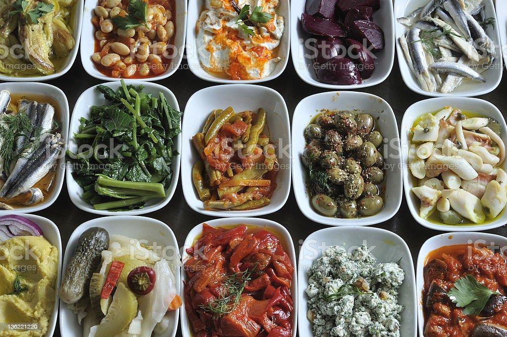 traditional Greek and Turkish snacks stock photo