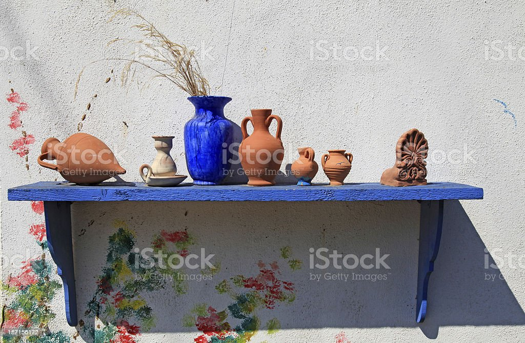 Traditional greek ceramics, Greece stock photo