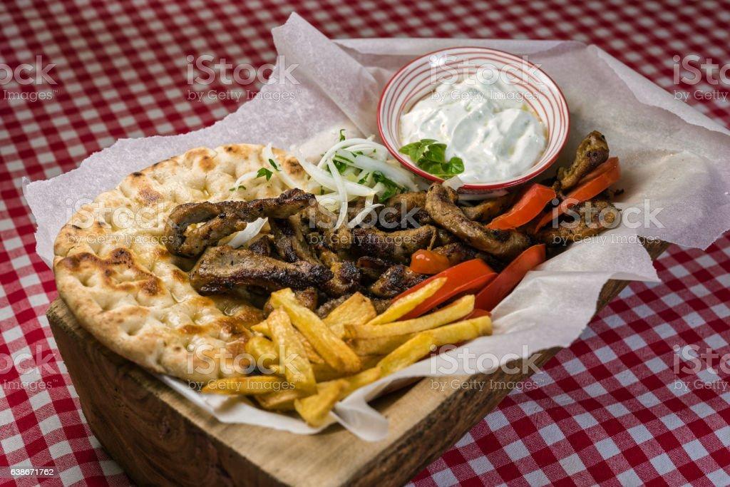Traditional Greek food stock photo