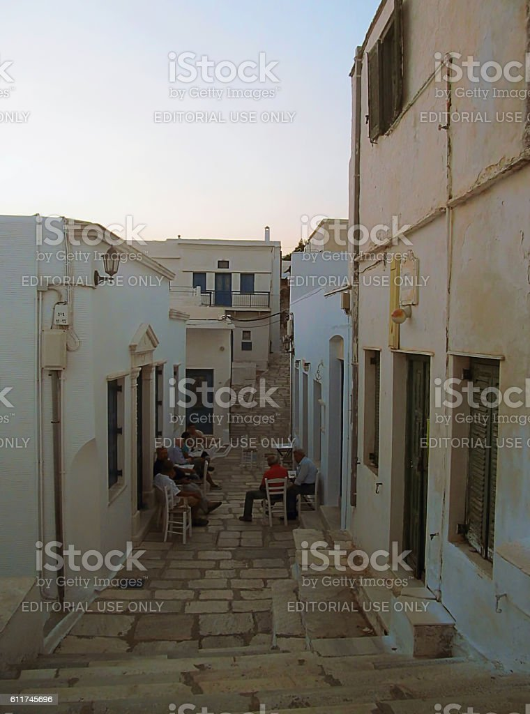 Traditional Greek 'kafeneion' stock photo