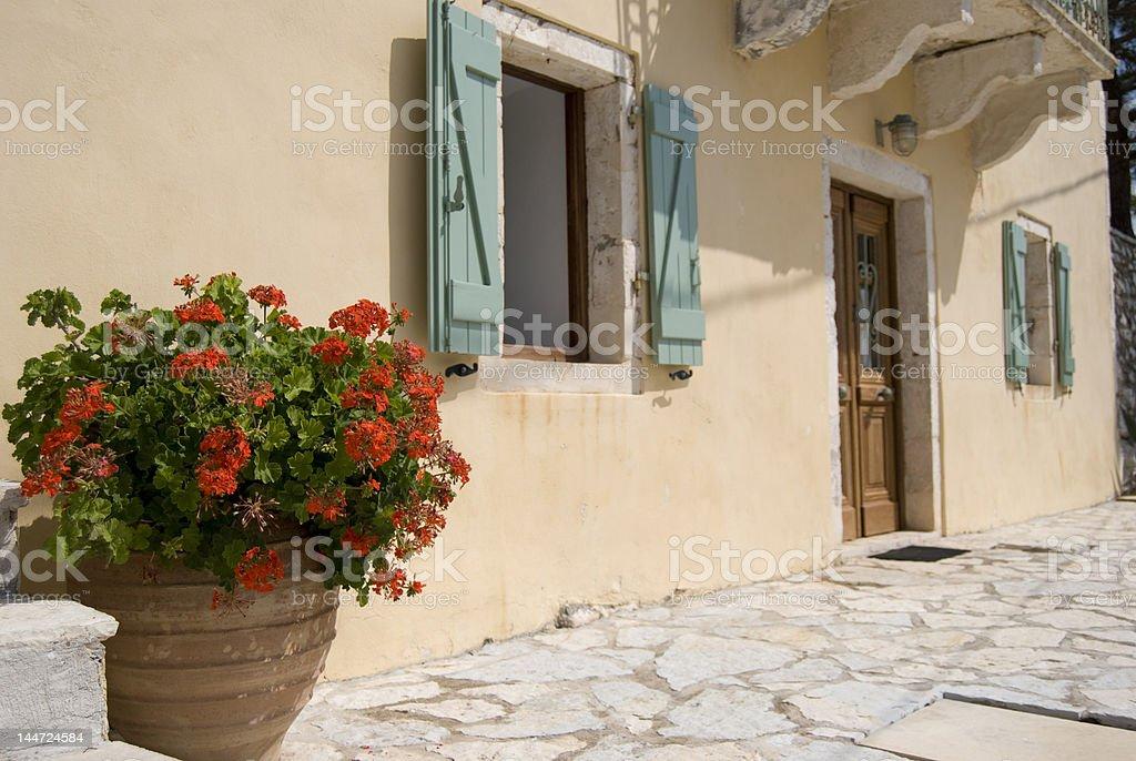 Villa grega tradicional foto royalty-free